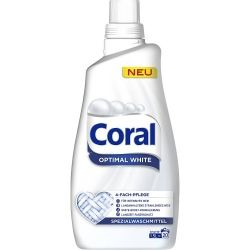 CORAL Optimal White 1,5 л. 20 пр. за бяло пране