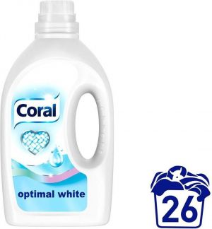CORAL Optimal White 1,375л./25 пр. за бяло пране